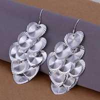 Lose Money!!Wholesale 925 Silver Earring,925 Silver Fashion Jewelry Multi-Flower Heart Earrings SMTE238