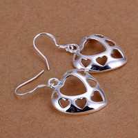 Lose Money!!Wholesale 925 Silver Earring,925 Silver Fashion Jewelry Hollow Multi Heart Earrings SMTE232