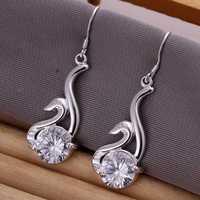 Lose Money!!Wholesale 925 Silver Earring,925 Silver Fashion Jewelry Inlain Swan Earrings SMTE195