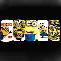 Despicable Me Minions Design Hard Back Case For Samsung Galaxy S3 mini i8190 free shipping Free 1pc Stylus Pen
