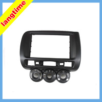 Car refitting DVD frame,DVD panel,Dash Kit,Fascia,Radio Frame for 2006 Honda Jazz (Aircon Manual for driver in the left ), 2DIN