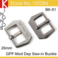 Free Shipping Stainless Steel Watch Buckle Clasp 26mm Pin Buckle GPF Mod Dep Sewn In Buckle For Panerai Strap Band Finish