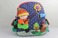 Handmade Baby Bag 3D Cartoons  boy Package Kids Bag Children Small Backpack 29X26CM