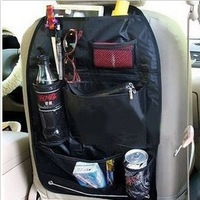 Free Shipping Black Car/Auto Multi Back Poket Seat Storage Bag Organiser Arrangement Bag
