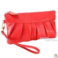 2013 new leather women clutch, fashion Korean version of a small hand bag purse leather cell phone pocket wholesale