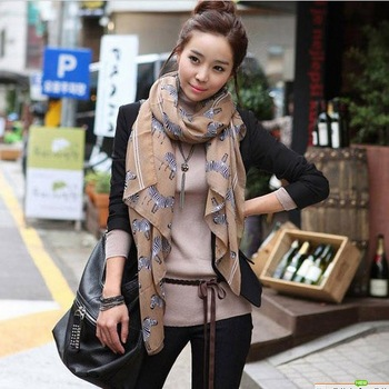 Free Shipping New 2013 Small zebra scarf fluid women's muffler scarf bali yarn long cape