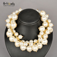 Artilady new pearl necklace statement necklace choker necklace 2013 new desgin street shot