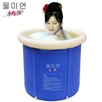 Water beauty thickening tub adult folding tub bath bucket 65cm inflatable bathtub folding bathtub bath bucket