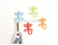 Multifunction Silicone Super Suction Gecko Shape Hook Hanger Ceramic Tile Household Sucker Holder Hooks (mix order 10 usd)