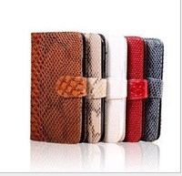Hot Selling! Snake Line/Grain Wallet Card Flip Leather Cover Case For Iphone 5 Case,Drop Shipping