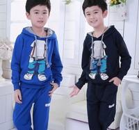 2013 Dongkuan Korean version children's clothing boys Zhongda boy foam pattern cotton long-sleeved suit