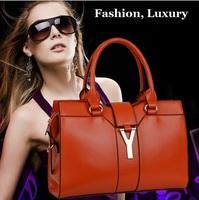Top Grade Luxurious Fashion High Quality Real Genuine Leather Y Brand Designer Handbags Women Totes Split Cowhide Shoulder Bag