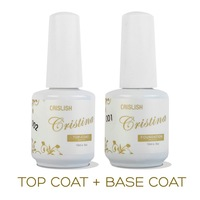 1 lot/2 pcs NEW Arrival 15ml BASE COAT plus TOP COAT for Nail Art Soak Off Color UV Nail Gel Free Shipping