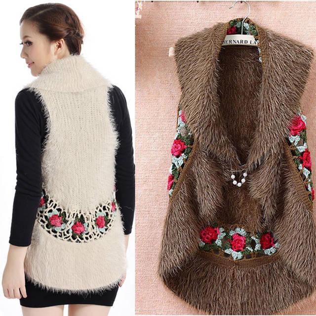 End handmade crochet hollow wind temperament vest women vest sweater