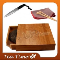 Free Shipping Professional PU er Tea Drawer Bamboo Tea Tray Puer Tea Box with Puer