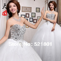 new 2014 princess tube top rhinestone bride bandage wedding dresses fashionable sexy wedding gowns sexy wedding dress 2014