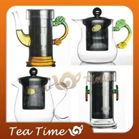Free Shipping Heat-resistant Glass TeaPot Stainless Steel Liner Elegant Cup Black Tea Device Tea Pot
