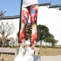 Min.order is usd15,free shipping,2013 HARAJUKU Fashion Galaxy space print kids/women's sexy legging 6 size is available