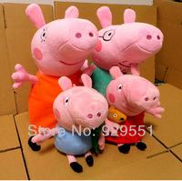 Special soft stuffed animal toys cute pepa,peppa & george pig family,familia set,girl child unique birthday brinquedos,gift 4pcs