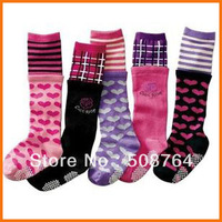 2013 Hot selling cotton autumn and winter children socks candy color 100% knee-high cotton stockinets socks
