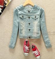 2014 autumn new style jean jacket tops the female jackets denim jacket for women outerwear womens winter jackets