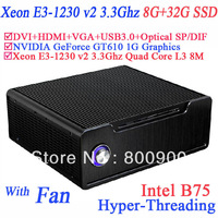 Windows 7 64 BIT 8G RAM 32G SSD cheap gaming computer with Xeon E3-1230 v2 Quad Core 8 thread intel B75 NVIDIA GeForce GT610 1G
