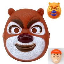 Máscaras Halloween crianças Cosplay brinquedos urso dos desenhos animados máscara 3 Pcs 20 * 17 cm(China (Mainland))