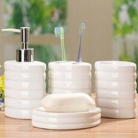 Free Shipping!! White Ceramic Four Piece Bathroom Set Wedding Gift Set