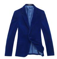 men's clothing flat flannelette suit male short blazer design velvet plus size blazer