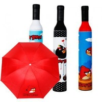 Free Shipping Cheap Sale Novelty Household Items Creative Cartoon Bird Umbrellas Black and red Sun Umbrella Stand Bold