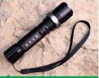 Free delivery mechanical zoom flashlight flashlight