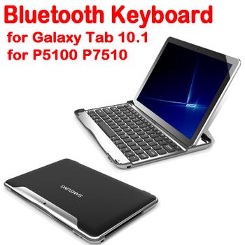 50% shipping fee 10 pieces For Samsung Galaxy Tab 10.1/P5100/P7510 Ultra slim Aluminium Shell BT Keyboard