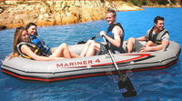INTEX MARINER 4 person inflatable boat 328*145*48cm, 137cm Alumnium oards, hand pump, repair patch