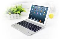 Brand New Design Aluminum Magnetic Mobile Wireless Bluetooth Keyboard for iPad 2 iPad 3 iPad 4 Silver