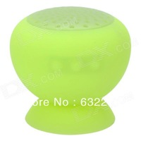 Suction Cup Mount Mini Bluetooth v3.0 Speaker - Light Fluorescent Green  Free Delivery