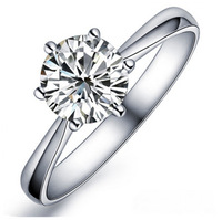 100% pure  925 sterling silver platinum beauty  engagement ring fashion jewelry SSR001