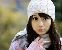 2013 Women Ladies Autumn Winter Knitting Wool Hat for Women Caps Lady Crochet Beanie Knitted Hats 10 Colors for Xmas