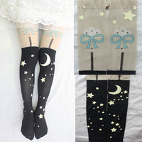 Wholesales 2014 New Arrival Women's Fashion Sexy Cute Cartoon Tattoo Pantyhose Stockings Tights