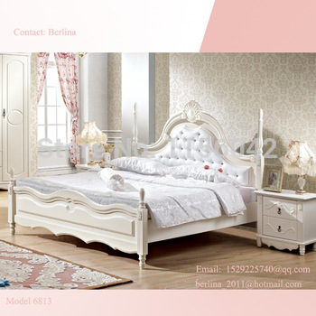 High quality  royal luxury bedroom furniture queen size cheap Chinese antique beds queen size classic design