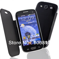 "Mini S3 i9300 4.0"" Touch Screen Dual SIM Quad Band Unlocked Phone With Leather Case Cover"