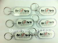 "1000PCS Acrylic Keychains(2.56""x1.18"") Insert Photo(2""x0.9"") Keyrings Free Shipping by Fedex"