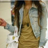 Hot-selling new 2014 vintage dress short design denim coats outerwear plus size cardigan autumn ladies' jackets winter jeans