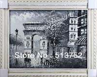 Black White Canvas Wall Art Handmade Oil Painting Decor Home
