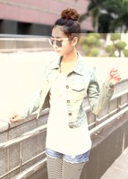 autumn -summer motorcycle plus size coats for woman new 2014 denim jacket jackets are female big size female coat cardigan