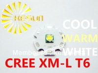 10PCS ORIGINAL CREE Xlamp XML XM-L T6 U2 10W High Power LED Emitter Bulb with 20mm Heatsink For Flashlight DIY