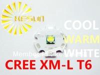 10PCS ORIGINAL CREE Xlamp XML XM-L T6 U2 10W High Power LED Emitter Bulb with 20mm Heatsink For Flashlight DIY
