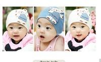 Free Shipping 1pc Four Seasons Cartoon Winnie Bear Baby head Cap Cotton Children Hat Size 15x14cm For Baby Gift CL0229