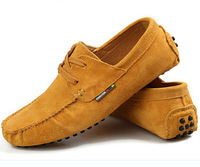 Free shipping   US6-10 Suede Leather Mens SLIP 0N loafers CAR Shoes  men boots boat shoe