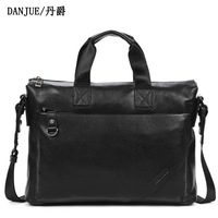 adventure time 2013 Totes genuine leather computer bags classic genuine leather bag quality black leather bags for men 1011-1
