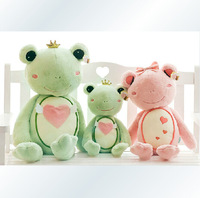 55CM super cute soft plush frog green prince/pink princess toy doll,stuffed big eye frog toys, lover birthday gift for girls,1pc